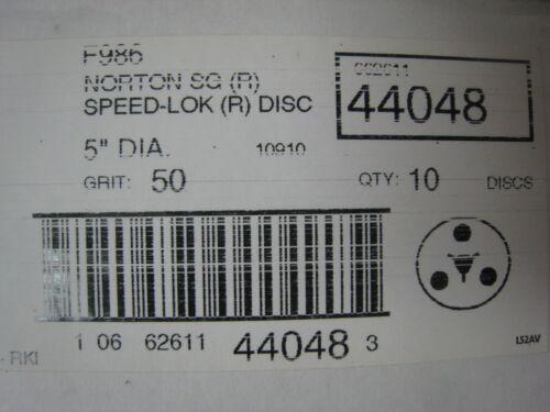 R Discs  50 Grit F986  Lot of 10 SG R 5 Inch Speedlok 986 #44048