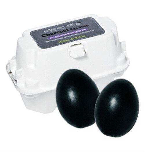 [Holika Holika] Egg Soap CHARCOAL 50g*2ea Sebum Control Trouble Care Cleanser