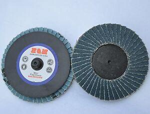 """200-2/"""" Roloc Zirc Quick Change Sanding Disc 120 Grit"""