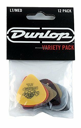 Jim Dunlop PVP101 Variety MediumLight Guitar Pick Player Pack Pack of 12
