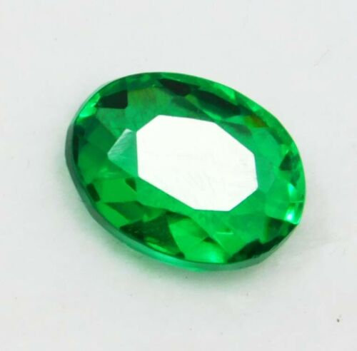 Natural 7.15 Ct Oval Cut Colombian Green Emerald Loose Gemstone B 4672