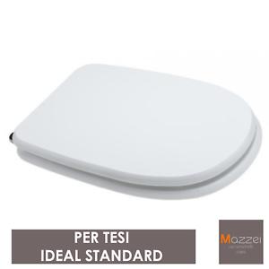 Ideal Standard Tesi Sedile.Sedile Copriwater Wc In Legno Per Tesi Ideal Standard Bianco Mdf Ebay