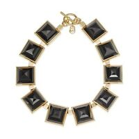 Michael Kors Ladies Necklace MKJ2899710 Gold Plated Large Black Pyramid