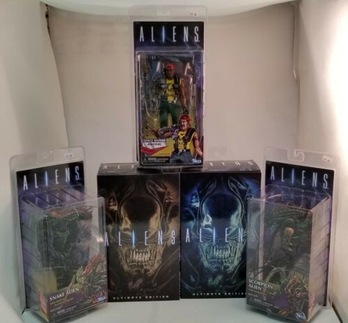 Lot of 5 NECA ALIENS Figures ~Apone~Scorpion~Snake~Warrior~ Unopened ~NEW~