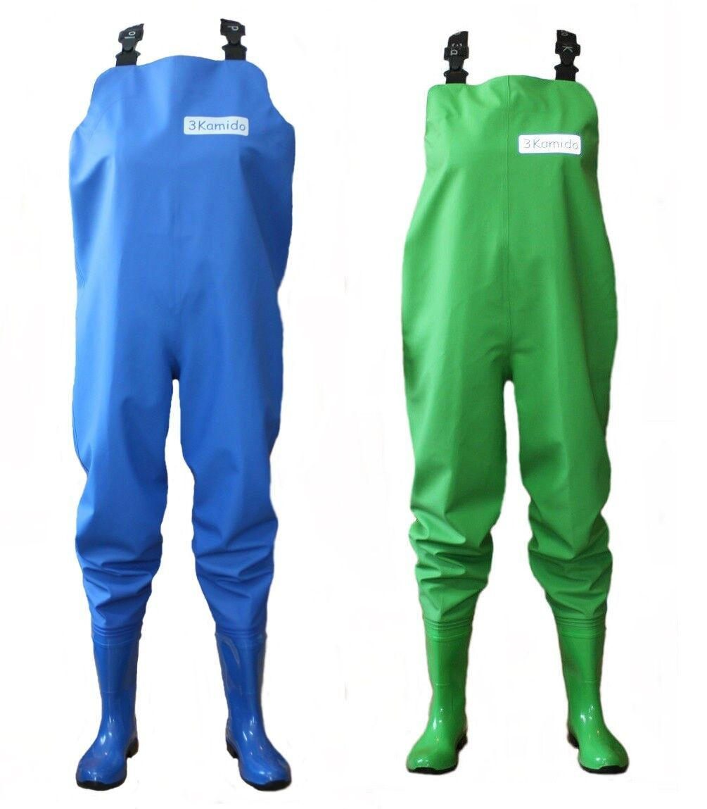 WOMEN CHEST WADERS woman , 3KAMIDO  4 - 8 bluee and Green