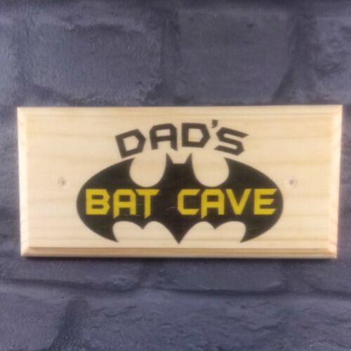 Cadeau-Hangar grand-père garage Batman Héros père 384 DAD/'s bat cave Plaque Signe