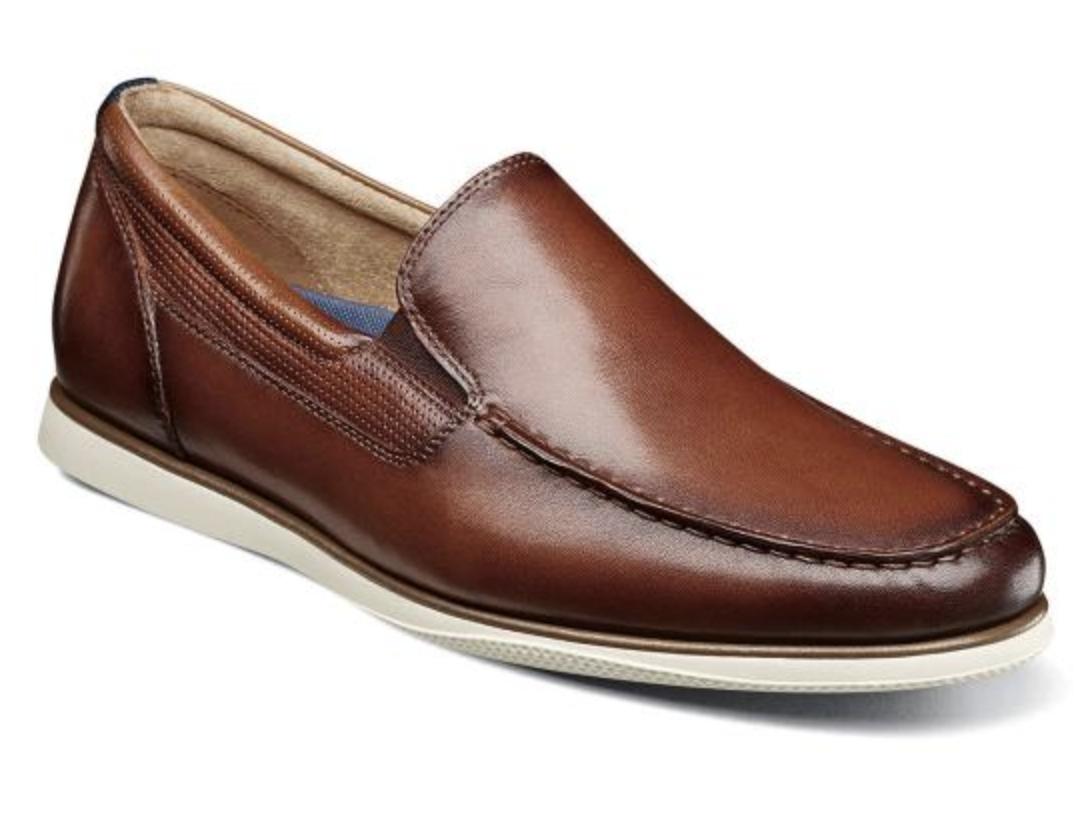 3c3577926431fe Florsheim Atlantic Moc Toe Toe Toe Venetian Slip On shoes Cognac 13316-221  d866c9 ...