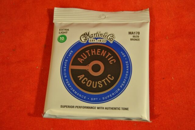 JEU DE CORDES GUITARE ACOUSTIQUE MARTIN AUTHENTIC SP EXTRA LIGHT MA170