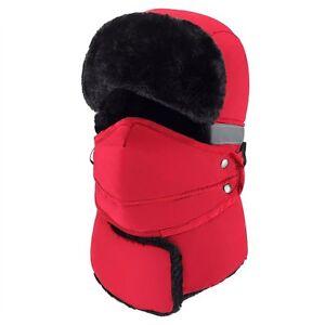 Red) Mysuntown Unisex Winter Trapper Trooper Hat with Windproof Mask ... b4f7354fee9b