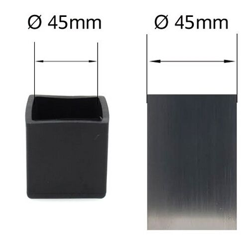 45mm Square Rubber Feet Stoppers Ferrules for Table And Chair Legs