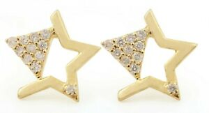 0.16 ct Natural Pave Diamond 10 MM 14K 18K Solid Gold Earrings