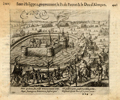 Europe Maps Antique Print-wouda-woude-netherlands-baudartius-1616 Easy To Repair