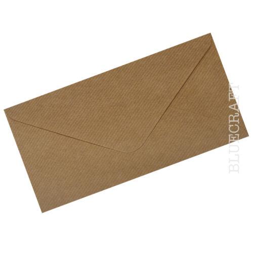 White Ivory Black Brown Ribbed Kraft DL Envelope Packs for Cards /& Invites