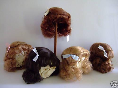 Perücke T11 (34 cm) 100% Haare Natürlich für Doll Antik - Doll Perücke