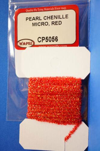Pearl Chenille MICRO Ø 1mm x 3 Meter Wapsi USA CP5056 Micro RED