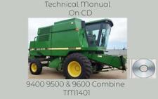 John Deere 9400 9500 Amp 9600 Combine Service Repair Technical Manual Tm1401 Cd