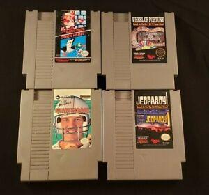 NES Nintendo Game Lot: Wheel of Fortune Jeopardy Quarterback Mario Bros / Duck H