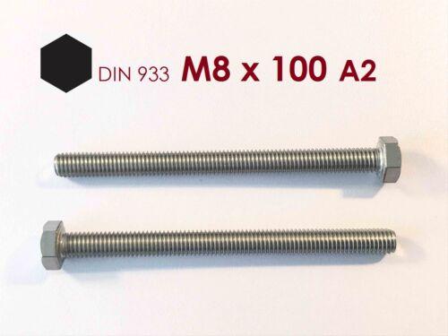 1 Stück Sechskantschraube M8x100 Edelstahl A2
