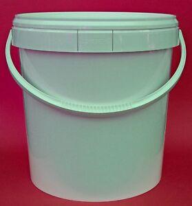 20 liter eimer mit deckel kunststoffeimer m deckel und henkel 20l ebay. Black Bedroom Furniture Sets. Home Design Ideas