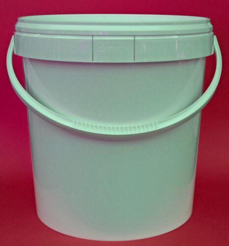 20 Liter Eimer mit Deckel - Kunststoffeimer m. Deckel und Henkel 20l
