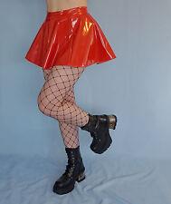 Red PVC Mini Skirt Fetish Goth Sexy 8-10