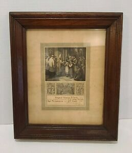 Vintage-Antique-Wood-Wooden-Walnut-Picture-Frame-1880s-Sacrament-Philadelphia