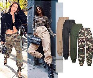 Unisex Militar Combate Pantalones Mujer Casual Ropa De Trabajo Fiesta Vaqueros Ebay