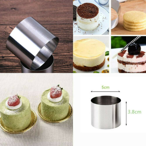 Metal Cake Food Grade Cup Pastry Ring Mold Stainless Steel Baking Tool Moulds