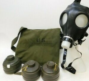 US Aircrews M24 Chemical Biological Gas Mask Set Size Medium