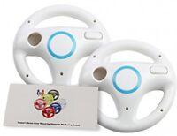Gh Wii U Wii Steering Wheel Original White For Racing Games, Mario Kart Racing