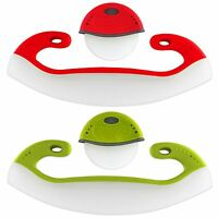 Dexas 2pc Roller Wheel & Rocker Blade Pizza Cutter Set - Red Or Green