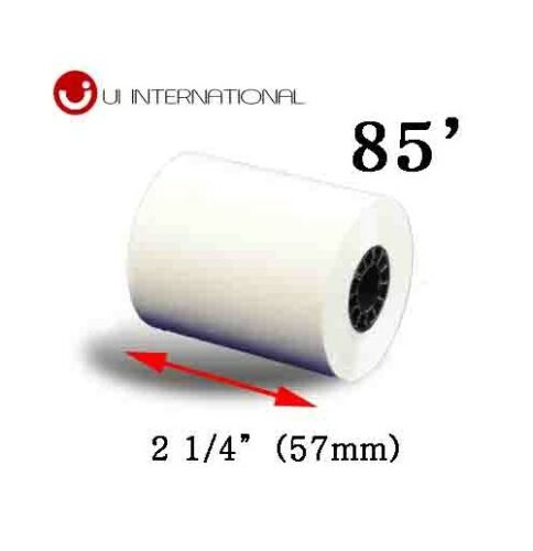 """THERMAL PAPER ROLL 2-1//4/"""" X 85/'  FOR CREDIT CARD TERMINAL 50 RollS"""