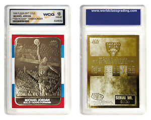 MICHAEL-JORDAN-1998-Fleer-039-86-ROOKIE-23KT-Gold-Card-R-W-B-Border-GEM-MINT-10