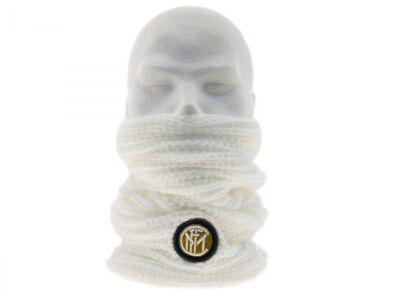 Caritatevole Scaldacollo Ufficiale Inter Bianco Merchandising Internazionale Originale