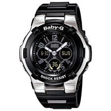 Casio Baby-G BGA110-1B2 Shock Resistant Black Multi-Function Ladies Sport Watch