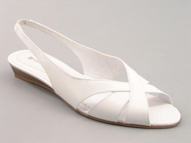 New NATURALIZER Women Leather Slingback Low Wedge Heel Peep Toe shoes Sz 8.5 M