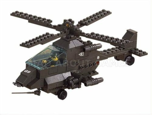 158 pcs Building Blocks HELICOPTER APACHE BATTLE PLAN COMPATIBLE BRICKS