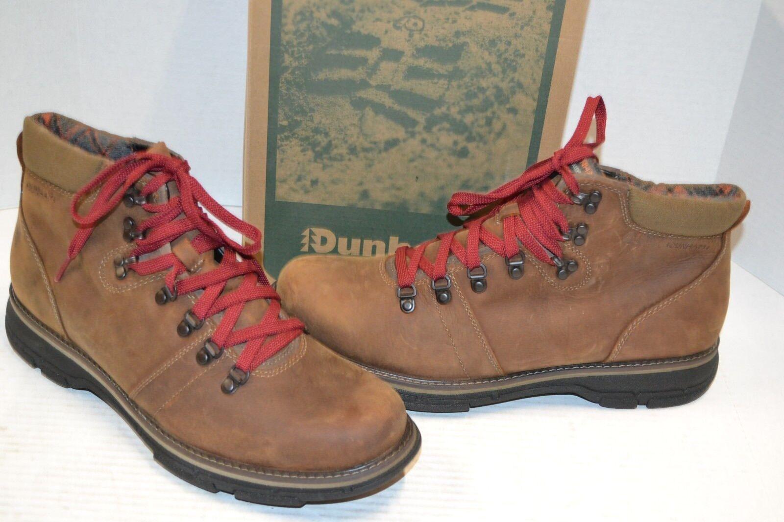 Dunham Hombre Cuero Marrón botas Para Excursionismo A Prueba De Agua RONALD Zapato 11.5 D Trail