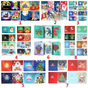 Christmas 5D DIY Diamond Painting Xmas Greeting Card Stitch Embroidery Decor