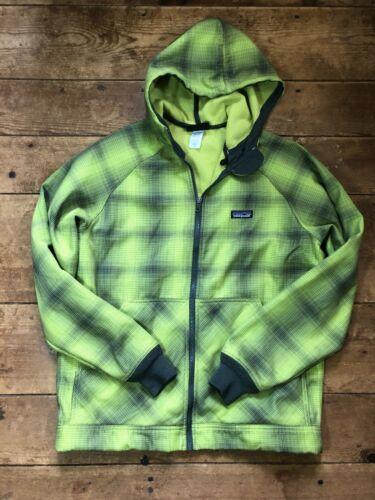 Patagonia Slopestyle Neon Green Fleece Full Zip Ou