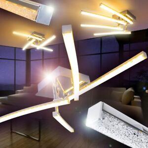 LED Lámpara de techo moderno cromo luces giratorios salon dormitorio ...