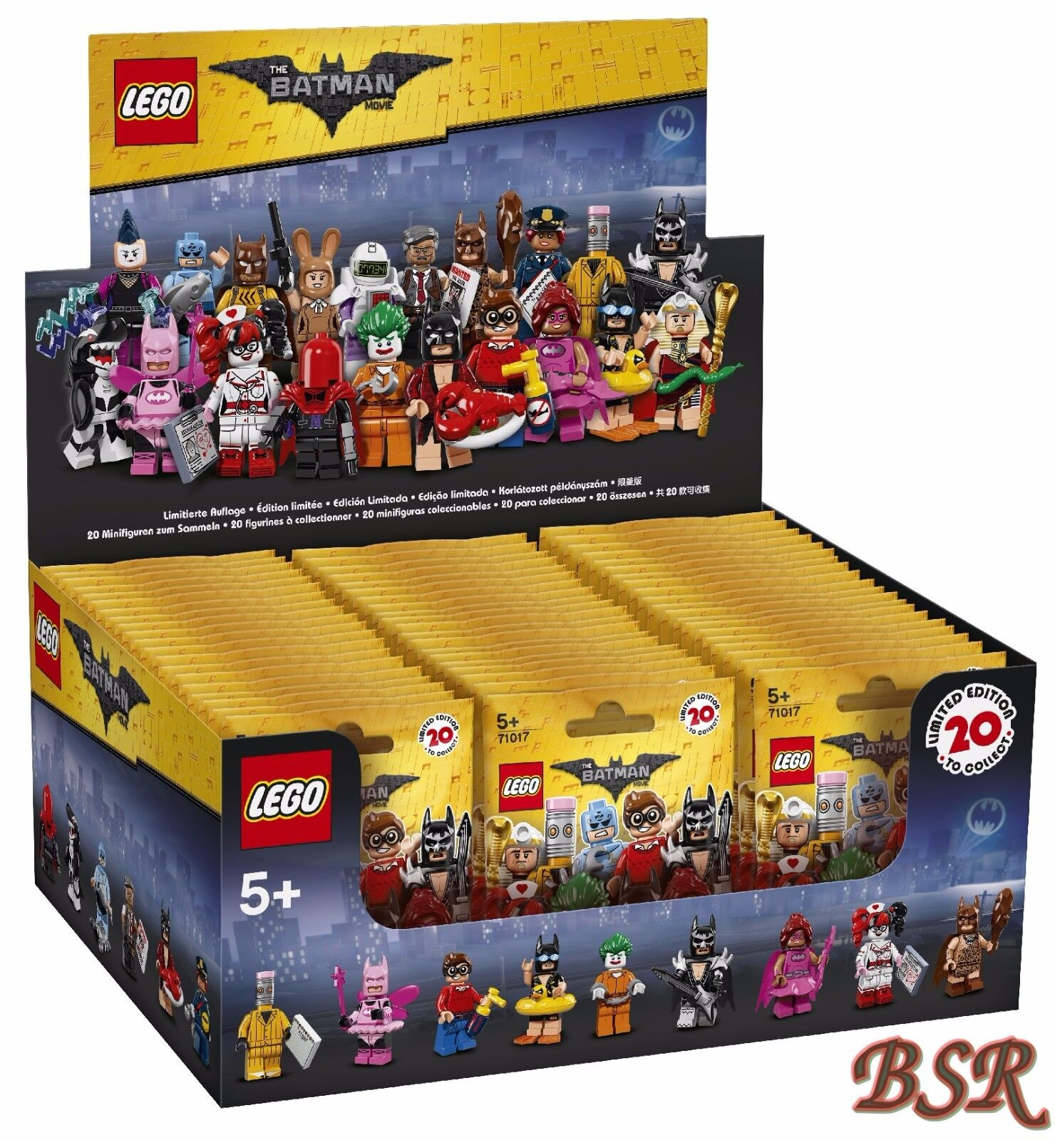 71017 LEGO® komplettes - Display versiegelt -THE LEGO® BATMAN MOVIE  60 Tüten