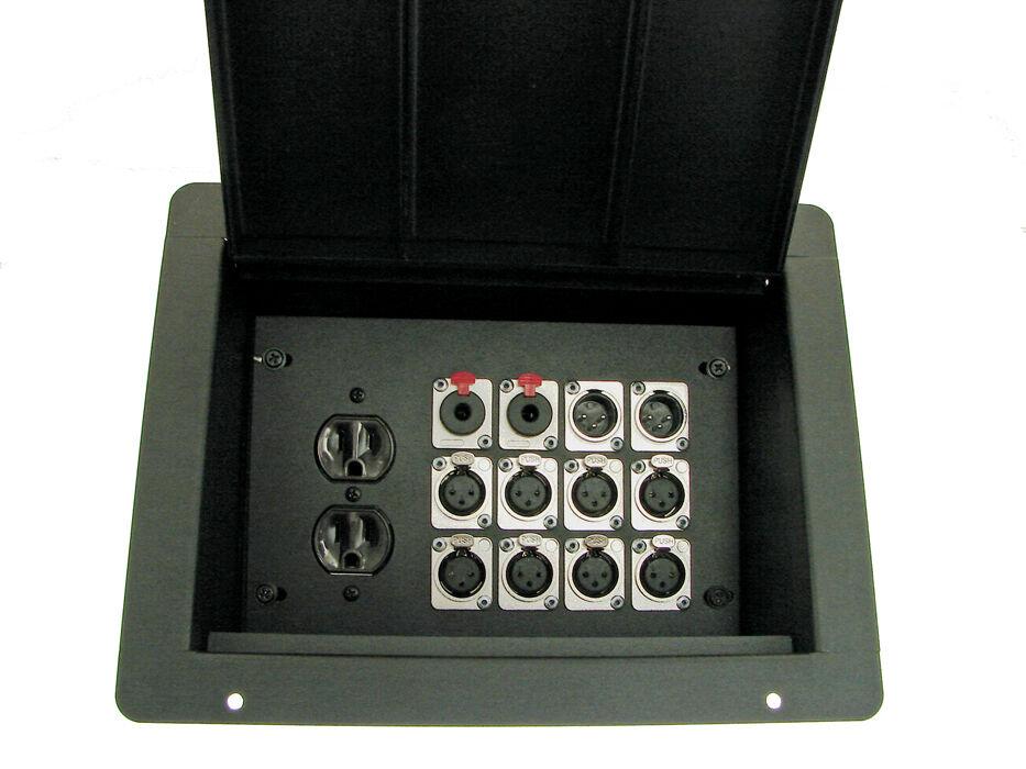 ProCraft Pro Audio Recessed Pocket Floor Box.1 AC Duplex 12 Channels Any Configs