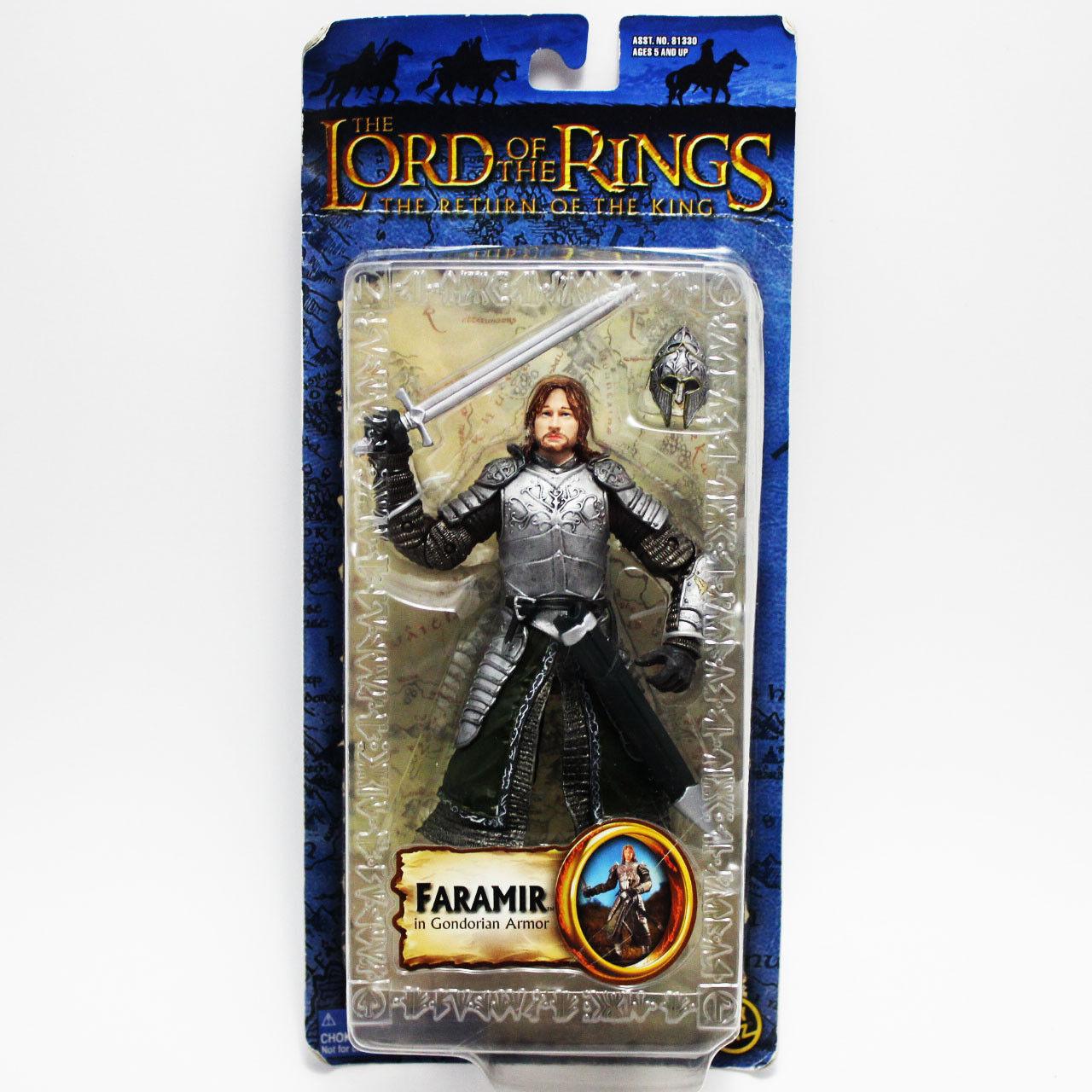 Toybiz Lord of the Rings Rings Rings The Return of the King Faramir in Gondorian Armor NEW 1b92ef