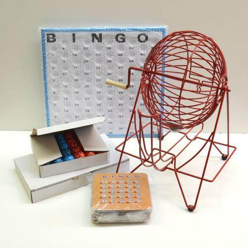 Bingo cage-Tennis de table-Rouge 15  W 75 boules Masterboard et 10 Obturateur cartes