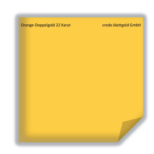 10 hoja Hoja de oro naranja-doble oro 22 quilates Transfer 80 x 80 mm dorar