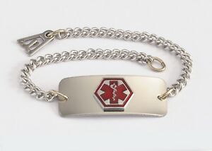 Details about DIABETIC Medical Alert ID Bracelet - Built in the USA -FREE  CUSTOM ENGRAVING