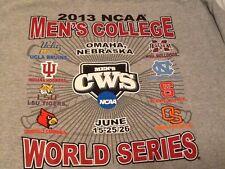 College World Series T-SHIRT 2013 Baseball UCLA North Carolina State Large