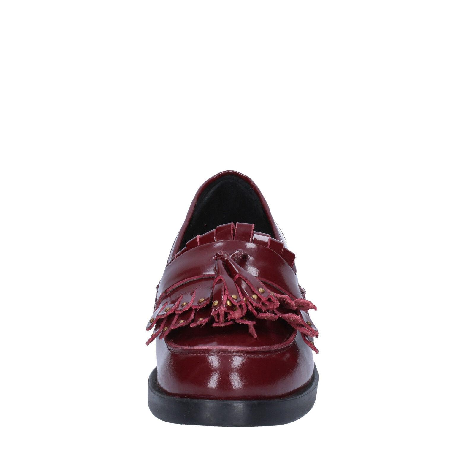 Damenschuhe schuhe EMANUELLE VEE 4 (EU BX382-37 37) moccasins burgundy Leder BX382-37 (EU 7784d1