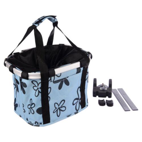 Foldable Bicycle Basket Detachable Cycling Bike Front Storage Bag Pet Carrier